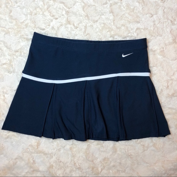 Nike Pants - Nike Medium Dri-FIT Navy & White Tennis Skirt